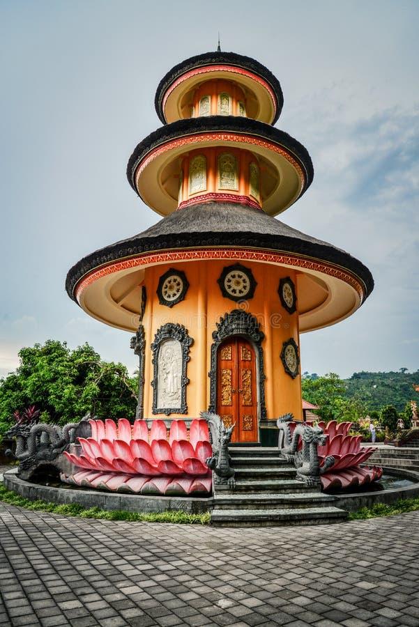 Budhist寺庙Brahma Vihara荒马Banjar在Lovina 免版税图库摄影