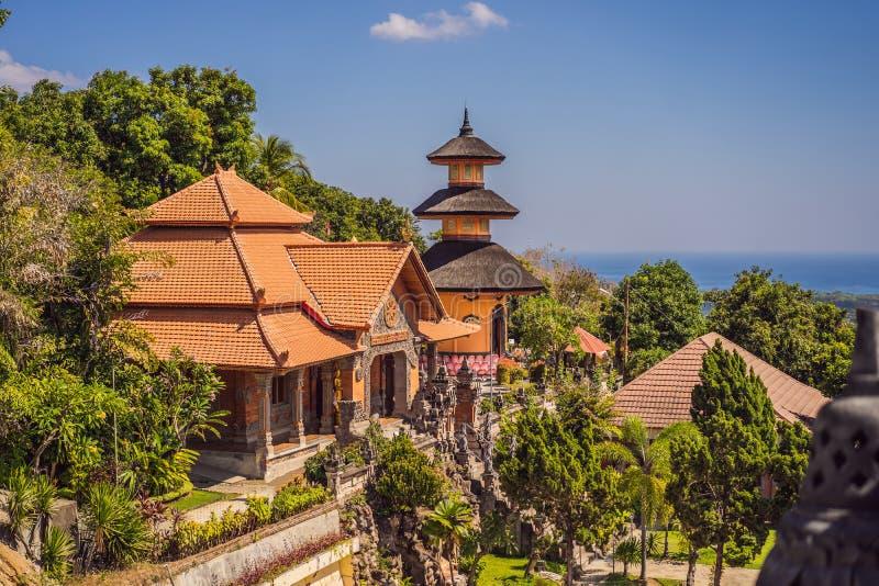 Budhist temple Brahma Vihara Arama Banjar Bali, Indonesia stock photography