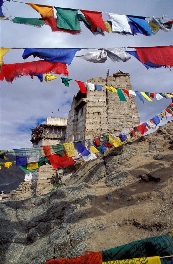 budhistkloster arkivbild