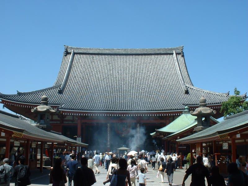Budhisttempel van Senji in Asakusa Tokyo stock fotografie