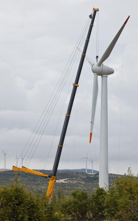Budilding een windmolen royalty-vrije stock afbeelding