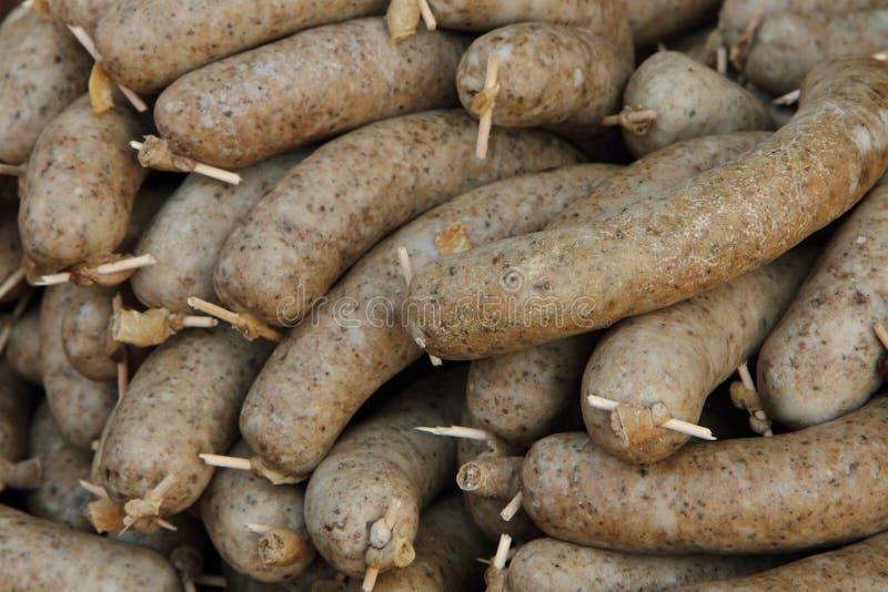Budino bianco (alimento tradizionale ceco) fotografie stock
