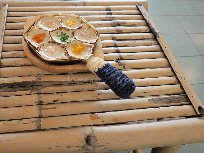 Budino di Oconut nello stile tailandese dei dolciumi  immagine stock
