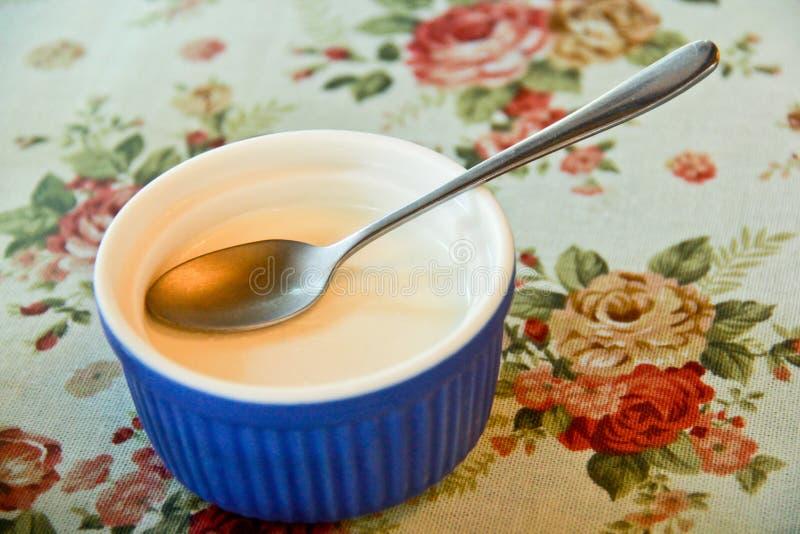 Budino di vaniglia adorabile dei dessert deliziosi fotografie stock libere da diritti