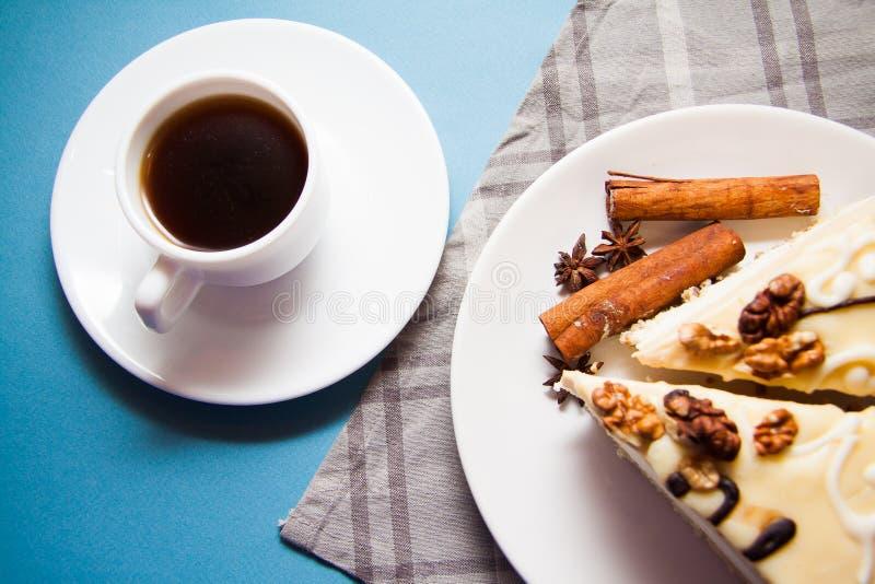 Budino di vaniglia con cannella immagine stock