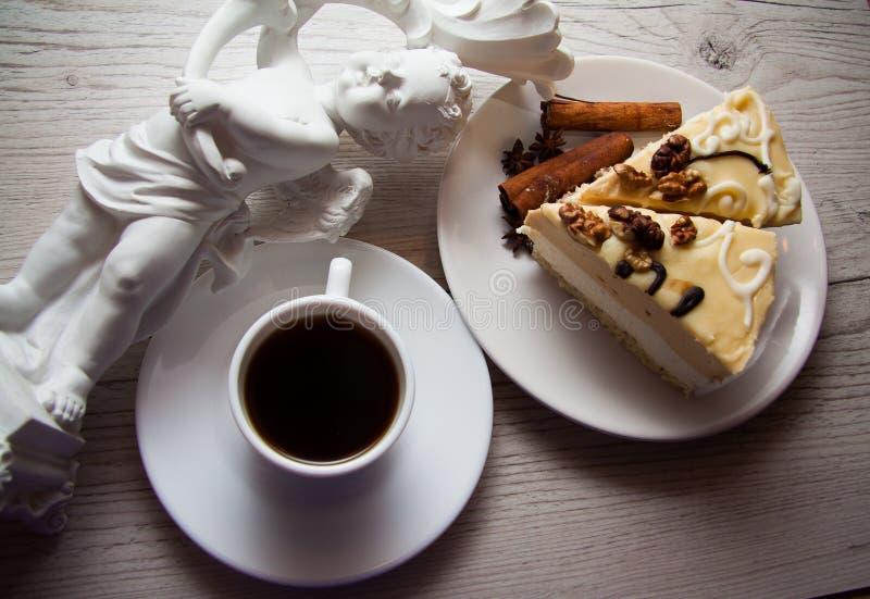 Budino di vaniglia cremoso fotografie stock libere da diritti