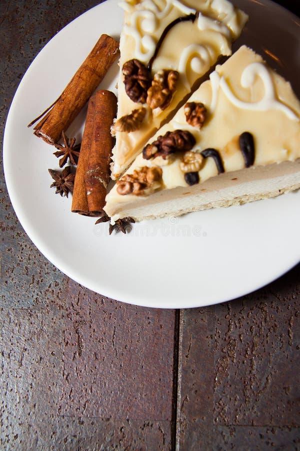 Budino di vaniglia cremoso fotografia stock