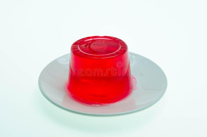 Budino rosso della gelatina immagini stock libere da diritti