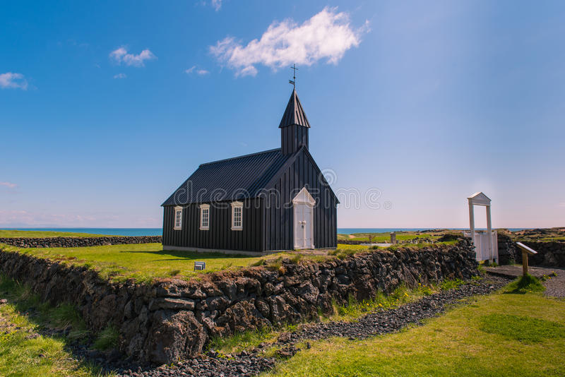Budir church. On the Snaefellsnes peninsula in Iceland stock images