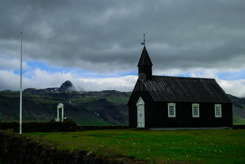 Budir kościół, Iceland zdjęcie royalty free