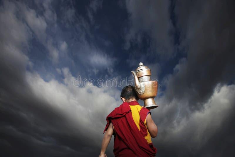 Budismo tibetano foto de stock