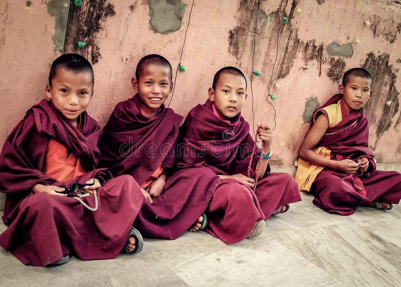 Budistas jovenes fotografía de archivo libre de regalías