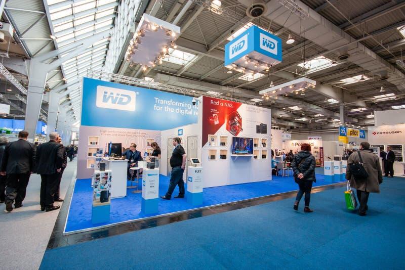 Budka Western Digital firma przy CeBIT obrazy royalty free