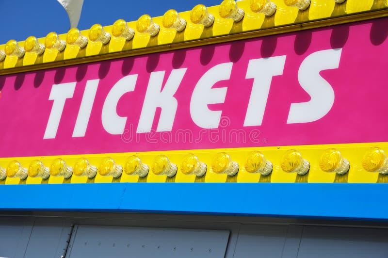 budka znaka bilet fotografia royalty free
