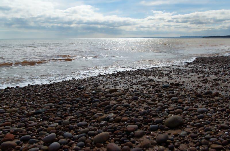 Budleigh海滩 库存照片