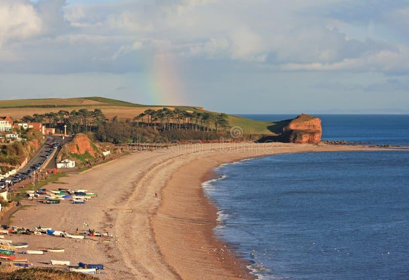 Budleigh Salterton海滩 免版税库存图片
