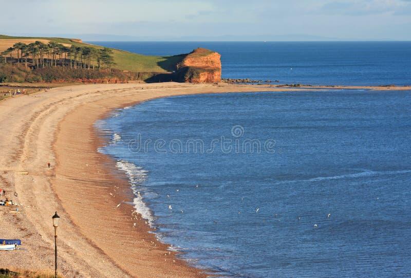 Budleigh Salterton海滩 库存图片