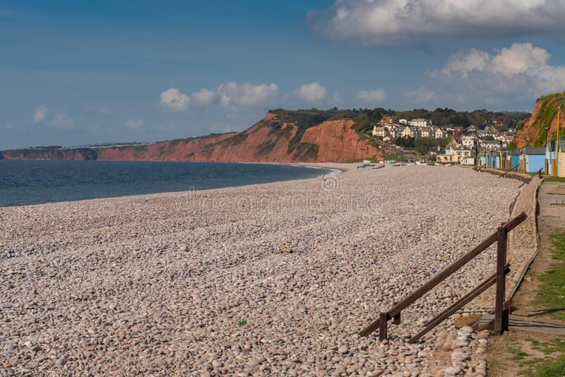 Budleigh Salterton, Jurajski wybrzeże, Devon, UK zdjęcia stock