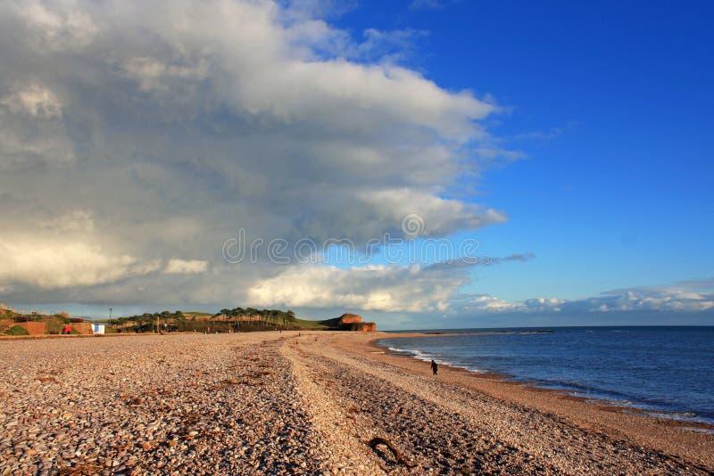 Budleigh Salterton plaża zdjęcia stock