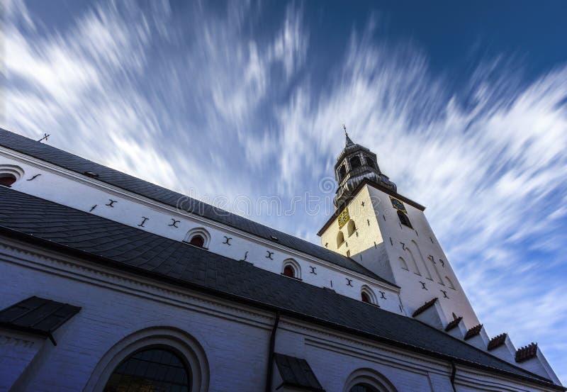 Budolfi kościół Aalborg fotografia stock