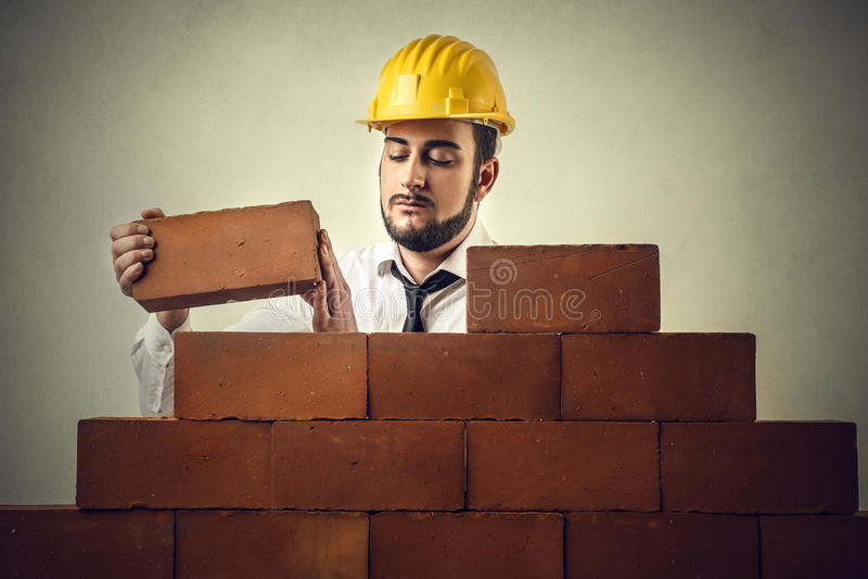 Budować ściany fotografia royalty free