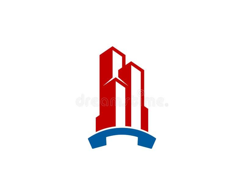 Budować Biurowego wezwania ikony loga projekta element royalty ilustracja