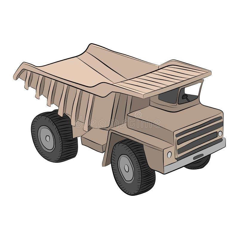 Budować ciężarową wektorową rysunkową ilustrację ilustracji