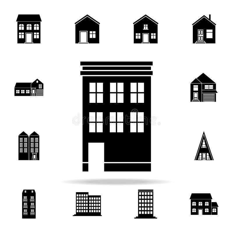 Budować dla siedlisko ikony domowy ikony ogólnoludzki ustawiający dla sieci i wiszącej ozdoby ilustracji