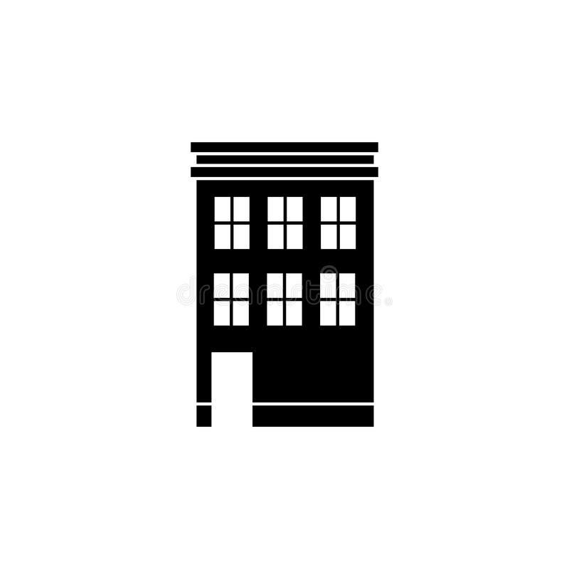 Budować dla siedlisko ikony Element podróży ikona dla mobilnych pojęcia i sieci apps Cienieje kreskowego budynek dla siedliska ilustracja wektor