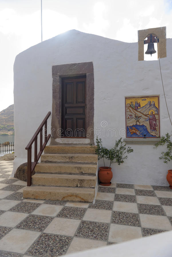 Budować na Patmos wyspie zdjęcia royalty free