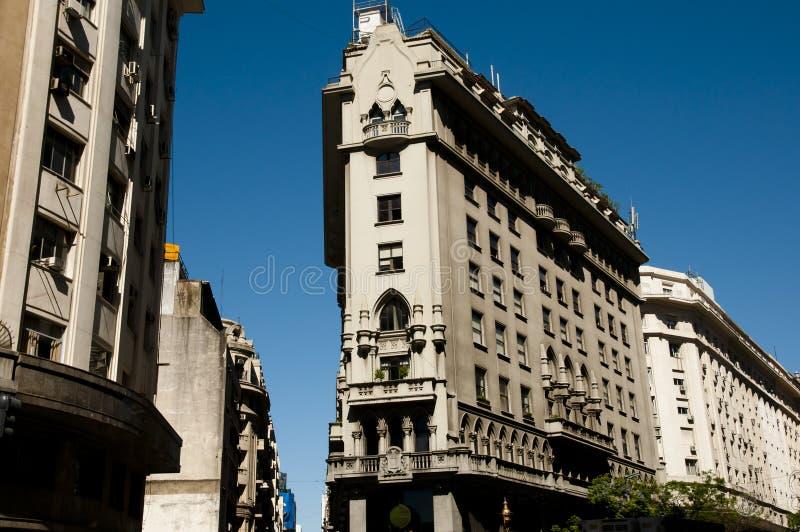 Budować na Roque Saenz Pena alei - Buenos Aires obrazy stock