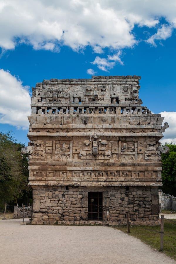 Budować nazwanego Kościół los angeles Iglesia na prawej stronie w antycznym Majskim mieście Chichen Itza, Mexi obraz royalty free