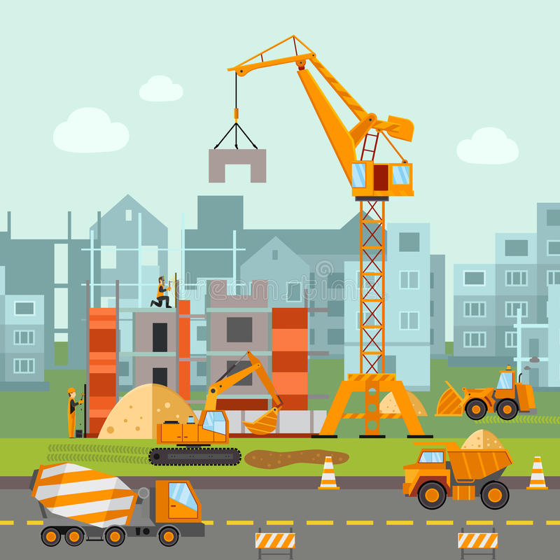 Budować pracy ilustrację ilustracji