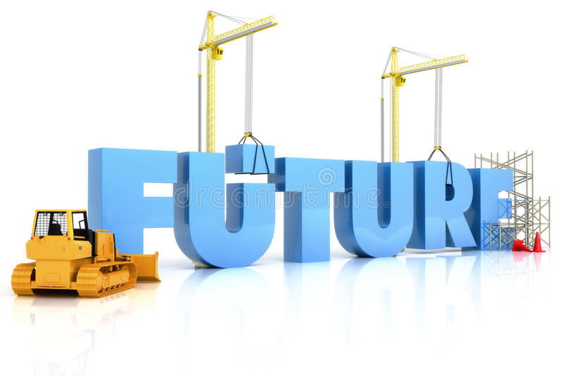 Budować twój przyszłościowego pojęcie ilustracja wektor