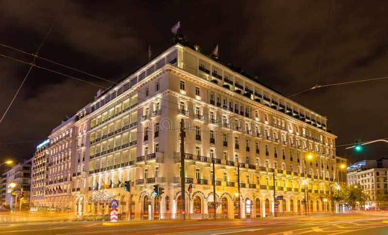 Budować w centrum miasta Ateny zdjęcia royalty free