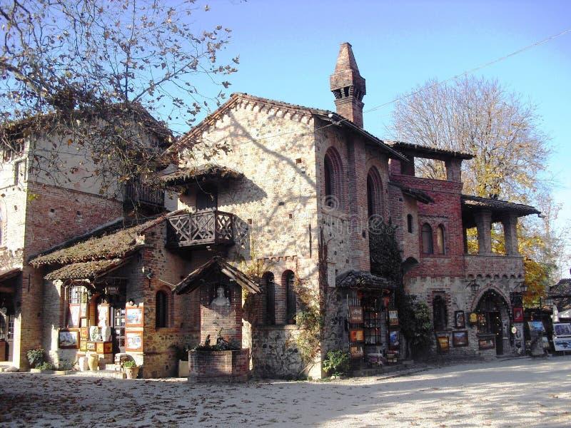 Budować w Grazzano Visconti obraz stock