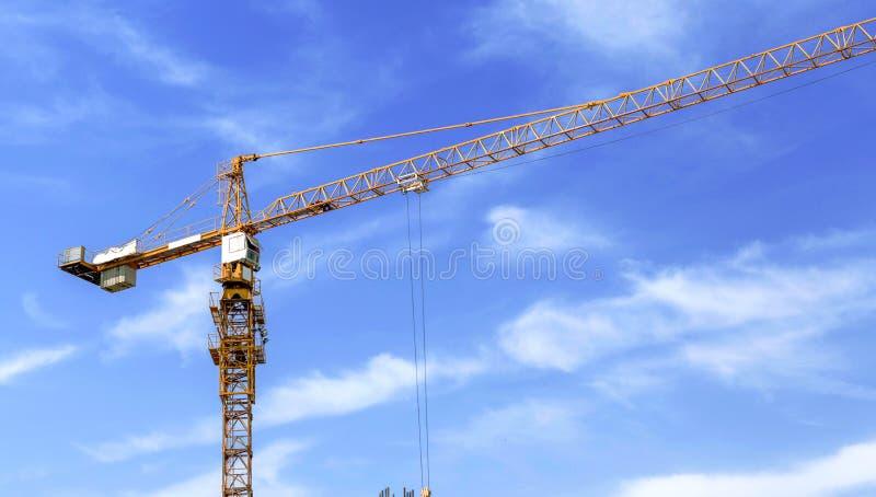 Budowa żuraw na budowie fotografia royalty free