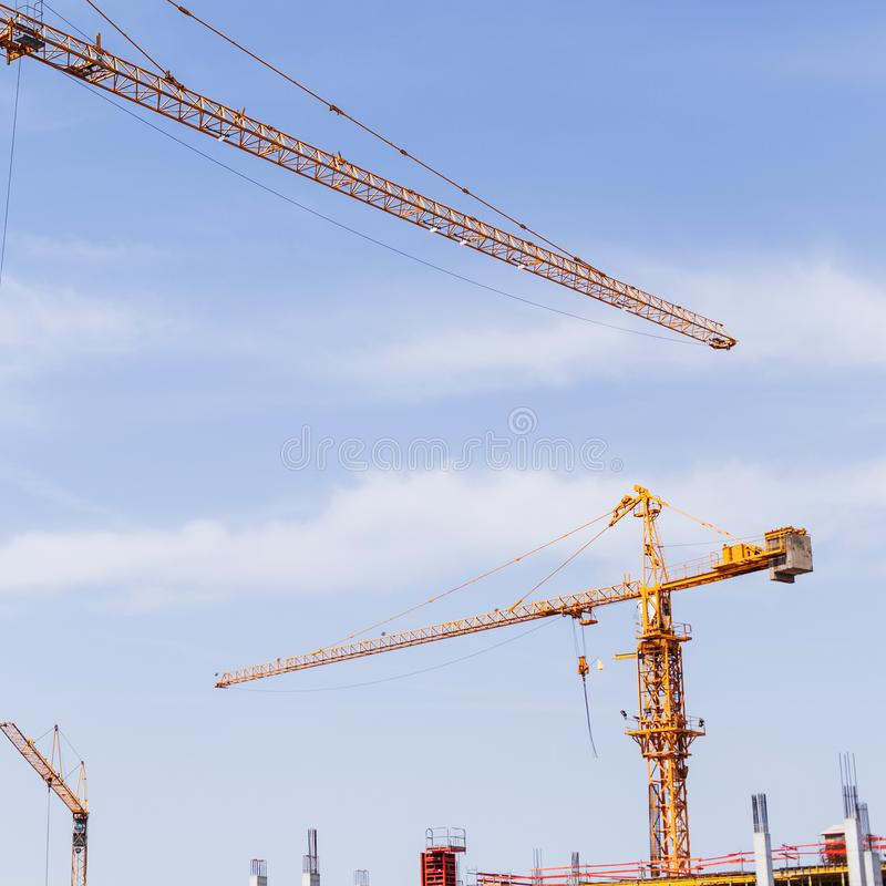 Budowa żuraw na budowie zdjęcie royalty free