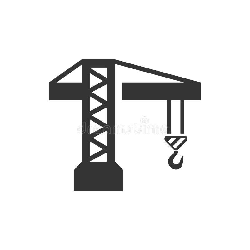 Budowa żurawia ikona ilustracja wektor