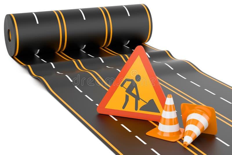Budowa autostrada ilustracji