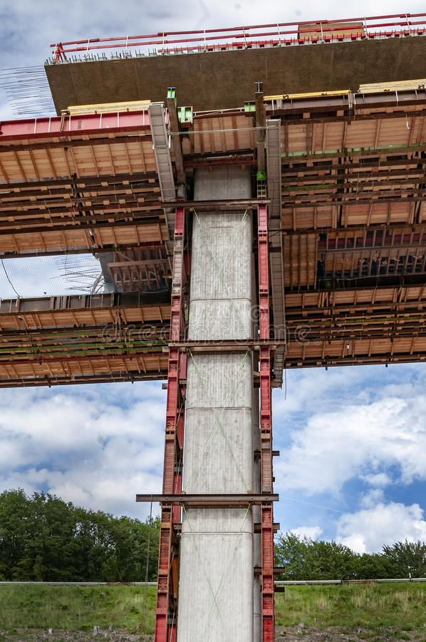 Budowa autostrada most obraz stock