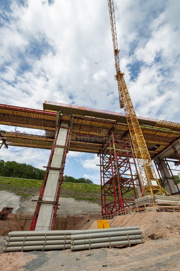 Budowa autostrada most obrazy royalty free