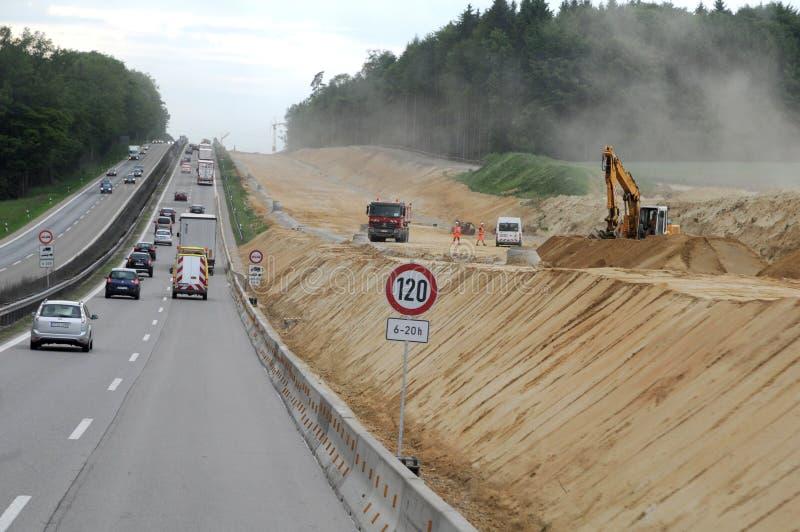 Budowa autostrady w Niemcy obrazy royalty free