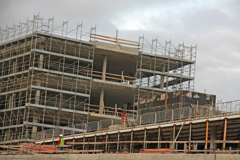 Budowa betonowy budynek obraz stock