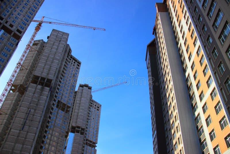 Budowa budynek mieszkalny fotografia stock