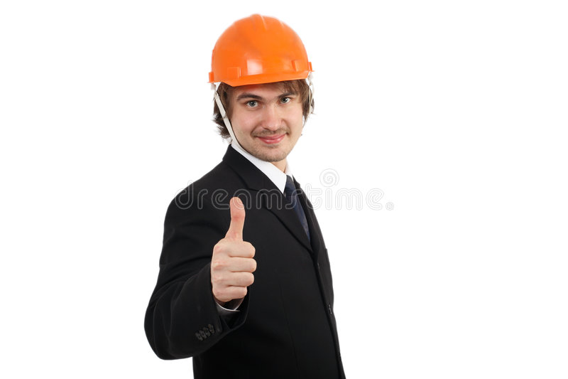 budowa ciężkie kapelusz fotografia royalty free