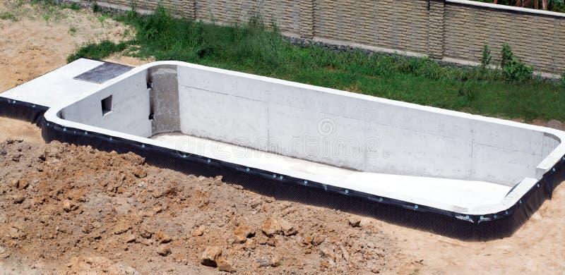 Budowa domu basen zdjęcia stock