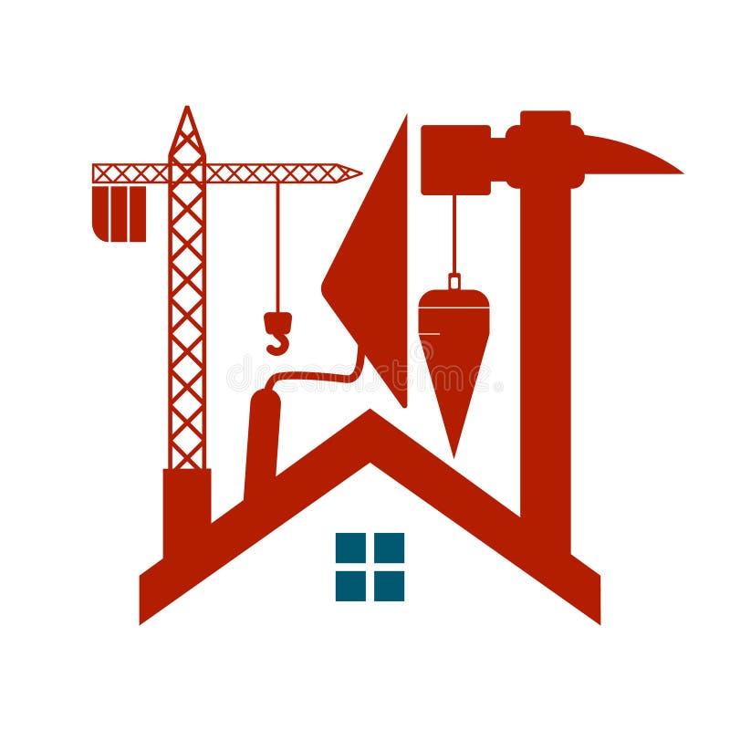 Budowa domy wektorowi zdjęcia royalty free
