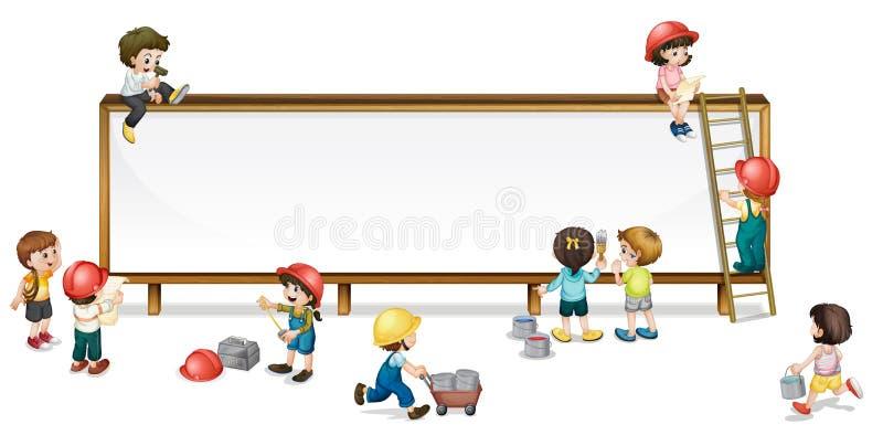 budowa dzieciaki ilustracji