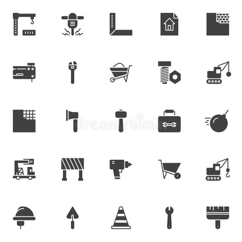 Budowa elementów wektorowe ikony ustawiać ilustracji
